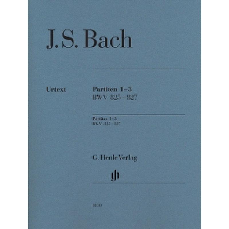 Titelbild für HN 1030 - PARTITEN 1-3 BWV 825-827