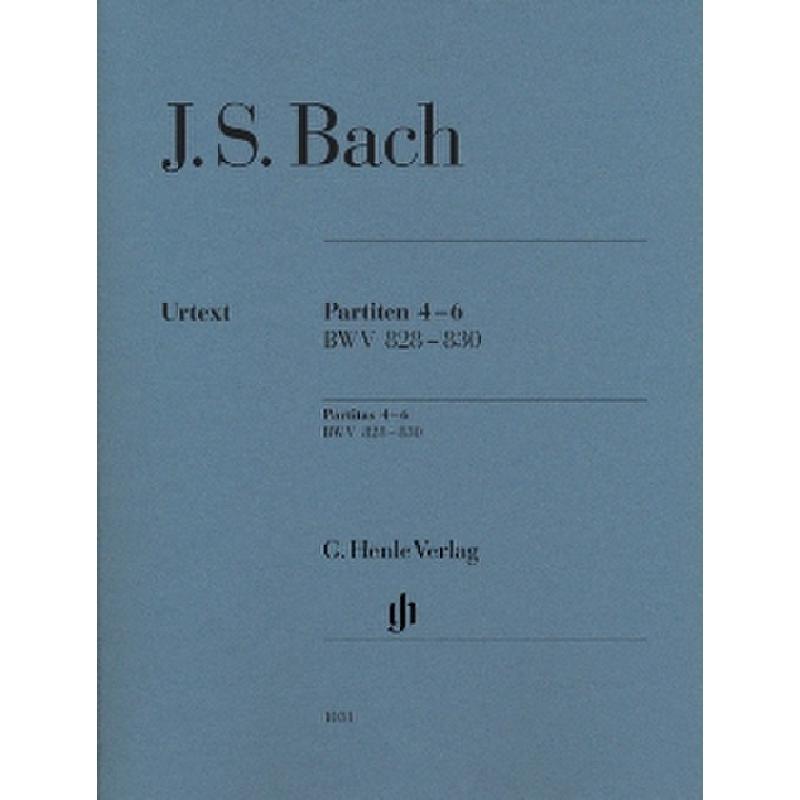 Titelbild für HN 1031 - PARTITEN 4-6 BWV 828-830