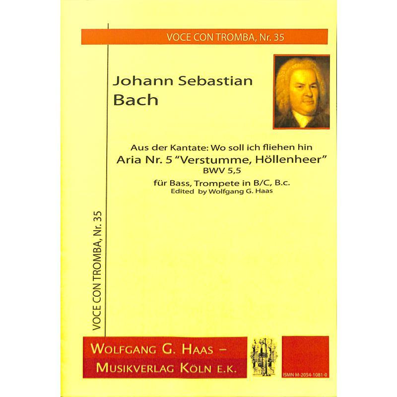 Titelbild für HAAS 1081-0 - VERSTUMME HOELLENHEER BWV 5/5