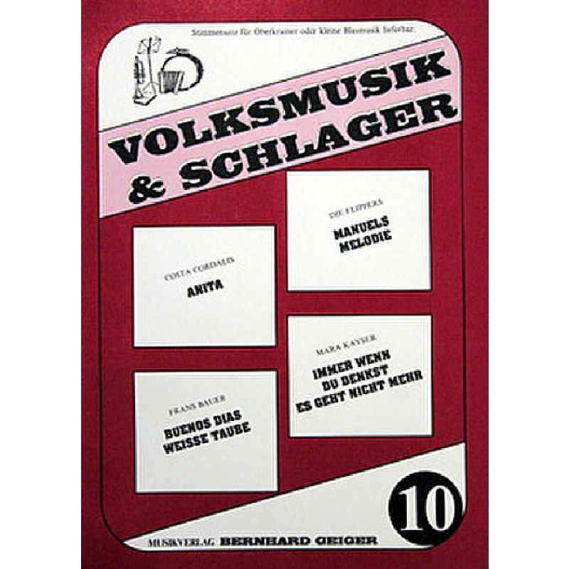 Titelbild für GEIGER -VS10 - Volksmusik + Schlager 10