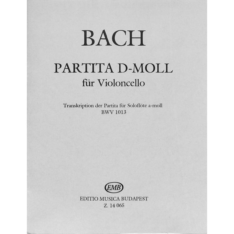 Titelbild für EMB 14065 - PARTITA D-MOLL BWV 1013 FUER FL
