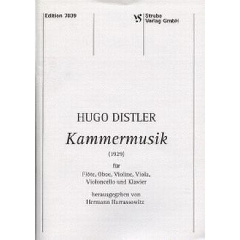 Titelbild für VS 7039 - KAMMERMUSIK (1929)