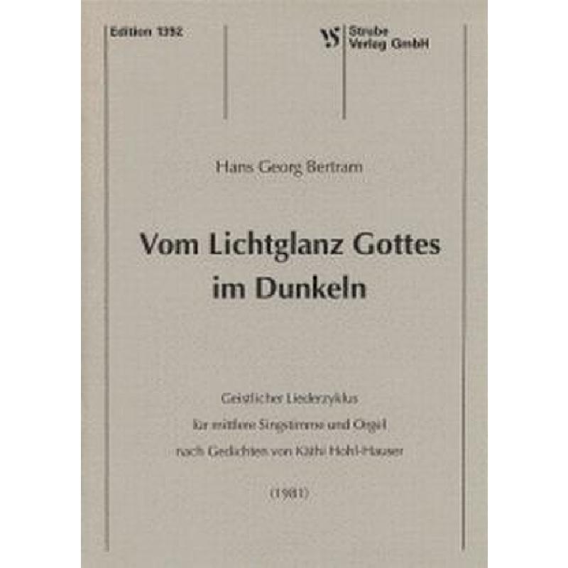 Titelbild für VS 1392 - VON LICHTERGLANZ GOTTES IM DUNKELN