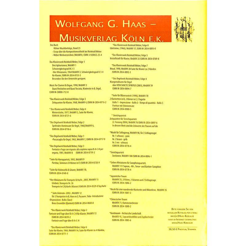 Notenbild für HAAS 1085-6 - KONTINUUM - ARCHAISCHE LANDSCHAFT WEBWV 45
