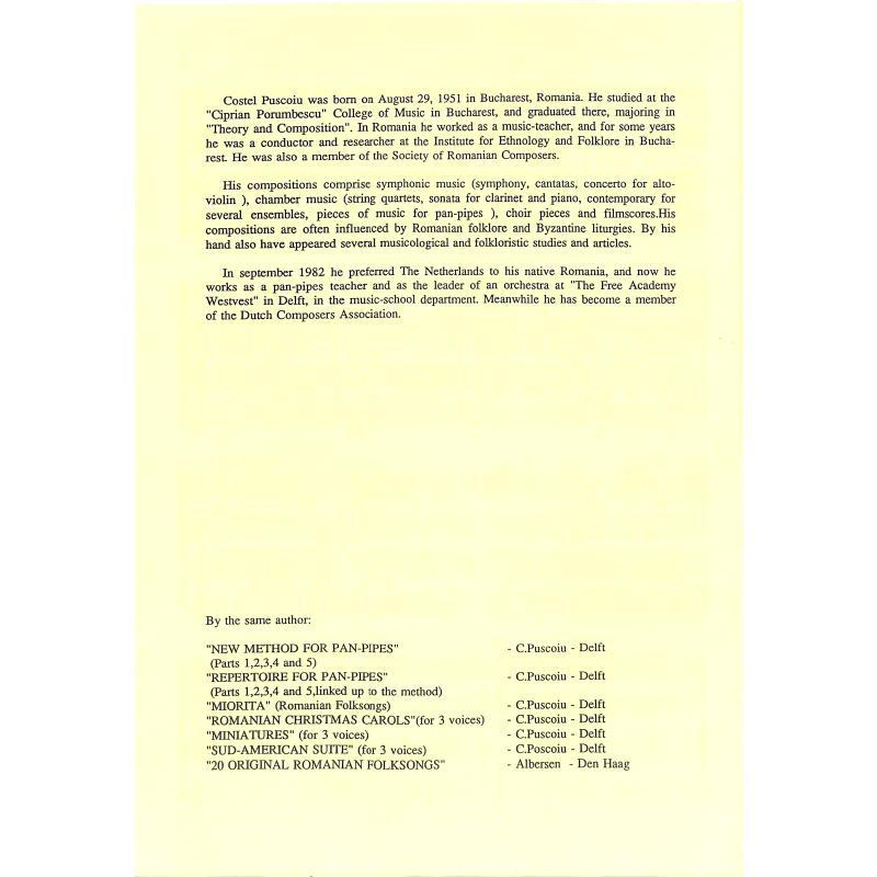 Notenbild für PUSCOIU 5 - PAVANE OP 50