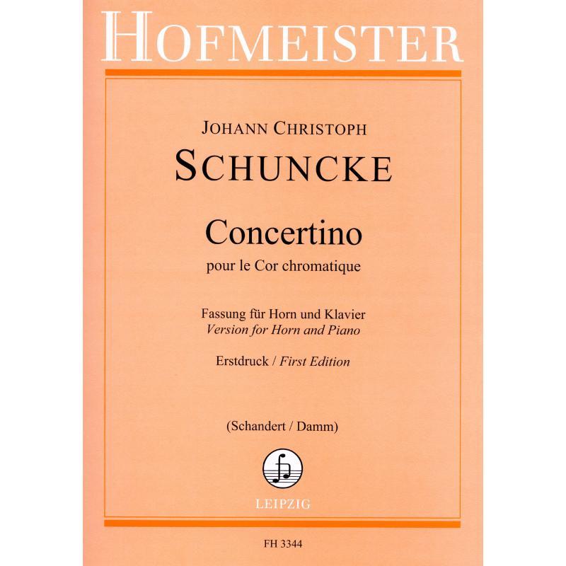 Titelbild für FH 3344 - CONCERTINO POUR LE COR CHROMATI