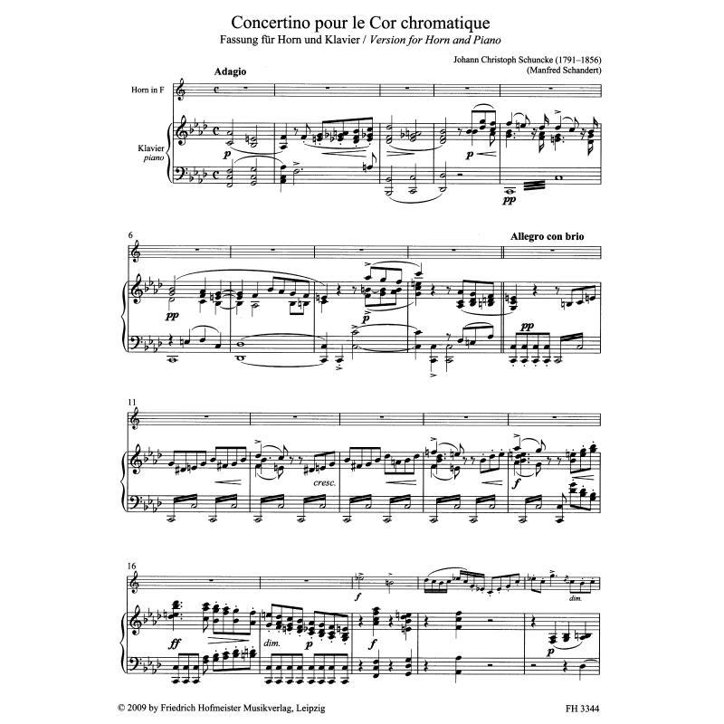 Notenbild für FH 3344 - CONCERTINO POUR LE COR CHROMATI