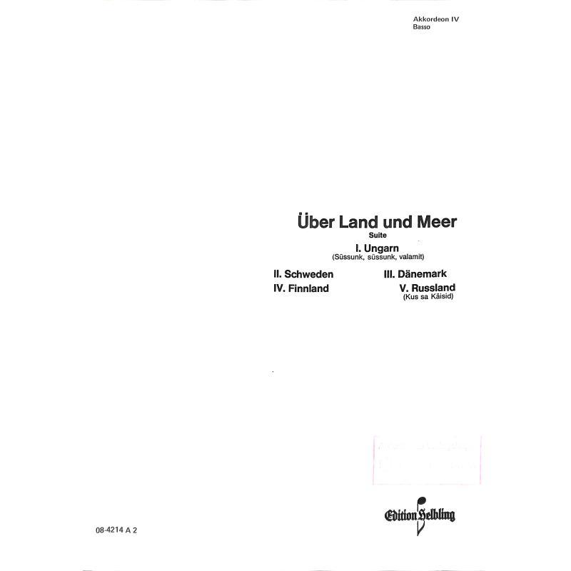 Titelbild für HELBLING .4214A-4 - UEBER LAND UND MEER