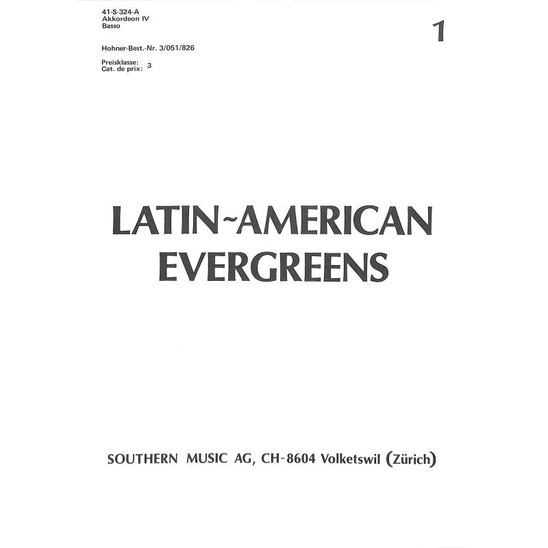 Titelbild für HELBLING .GS324A-4 - LATIN AMERICAN EVERGREENS 1