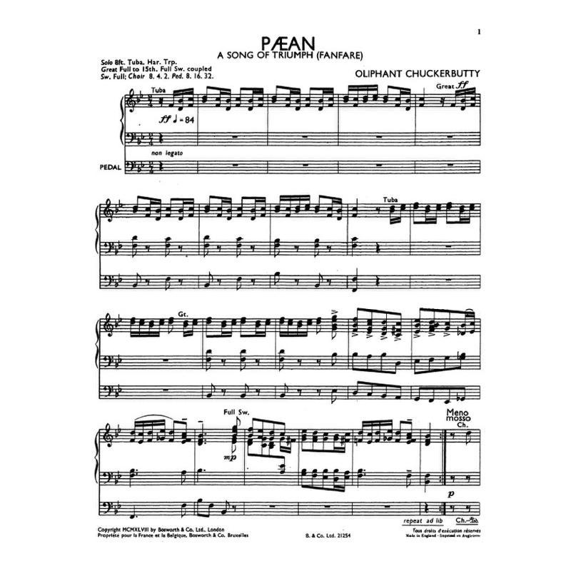 Titelbild für BOE 004808 - PAEAN - A SONG OF TRIUMPH - FANFARE
