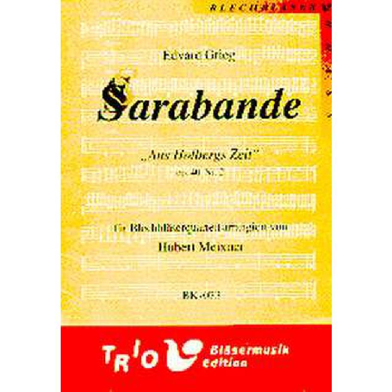 Titelbild für TRIO -BK073 - SARABANDE (AUS HOLBERGS ZEIT OP 40) NR 2