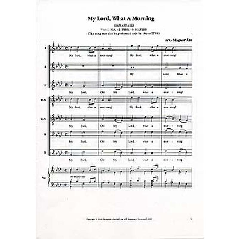 Titelbild für CANTANDO -C9689 - MY LORD WHAT A MORNING