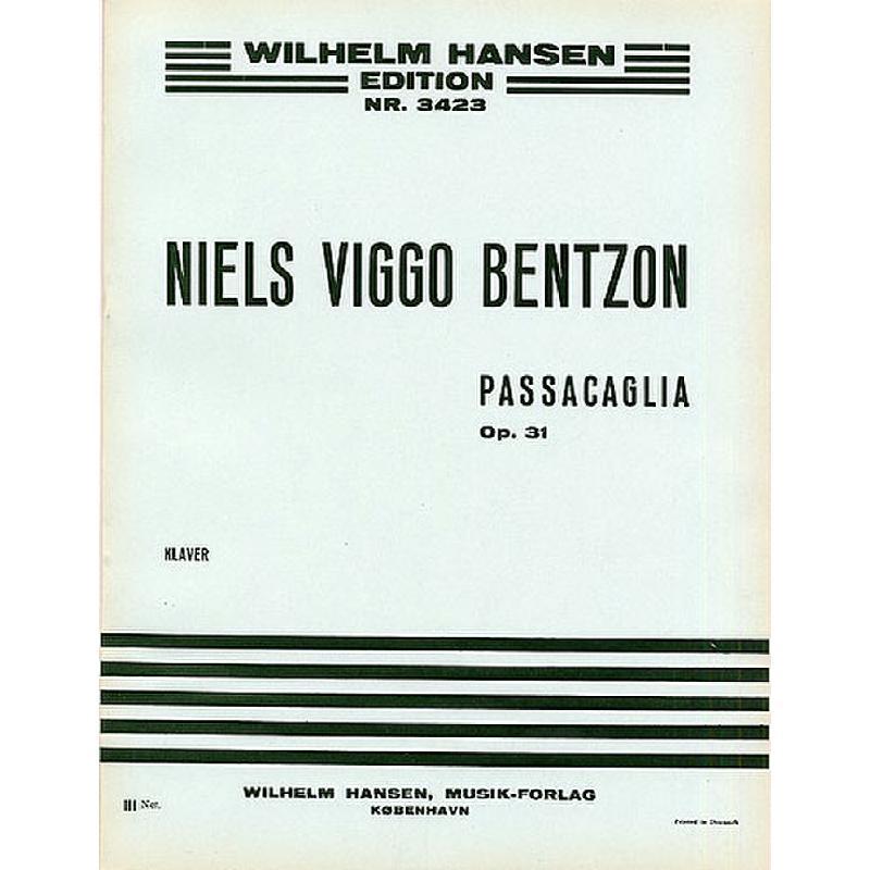 Titelbild für WH 26046 - PASSACAGLIA OP 31