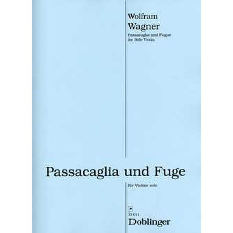 Titelbild für DO 33011 - PASSACAGLIA + FUGE
