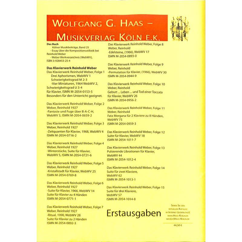 Notenbild für HAAS 1145-9 - 3 MINIATUREN WEBWV 99