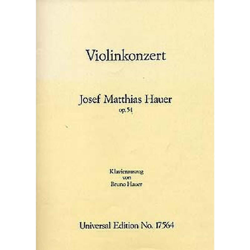 Titelbild für UE 17564 - KONZERT OP 54 - VL ORCH