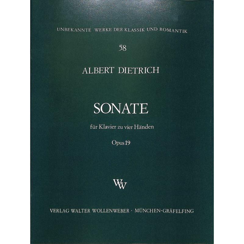 Titelbild für WW 58 - SONATE OP 19