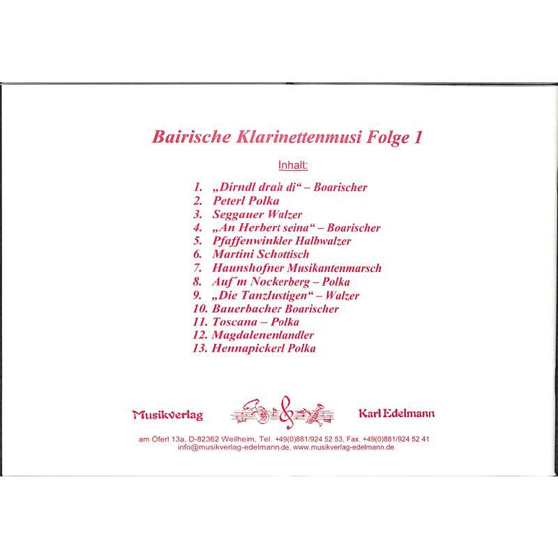 Notenbild für EDELMANN 9830 - BAIRISCHE KLARINETTENMUSI