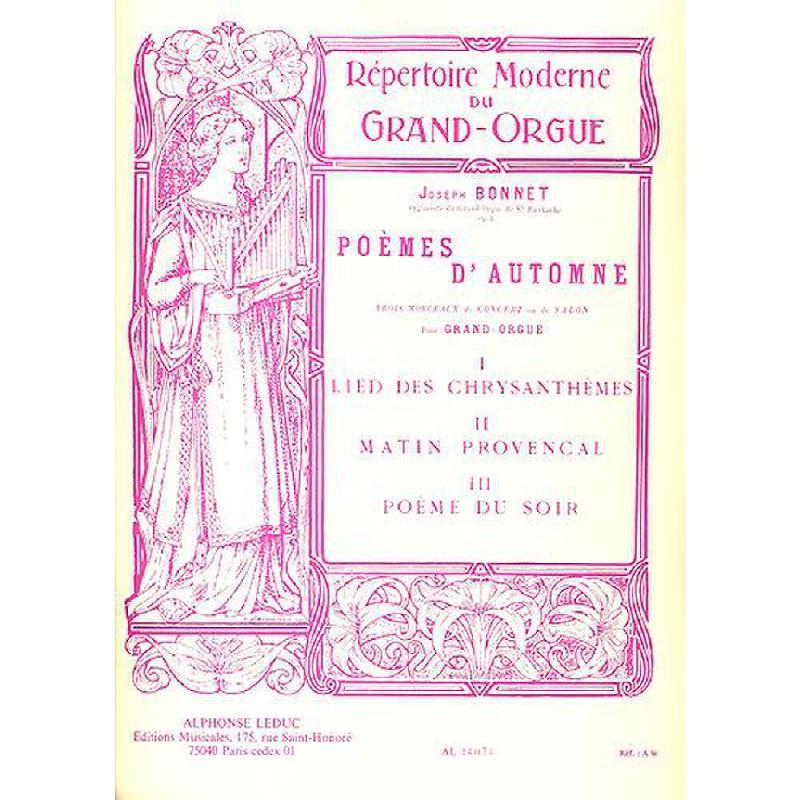 Titelbild für AL 14074 - POEMES D'AUTOMNE