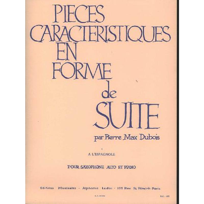 Titelbild für AL 23061 - A L'ESPAGNOLE -  PIECES CARACTERISTIQUES 1