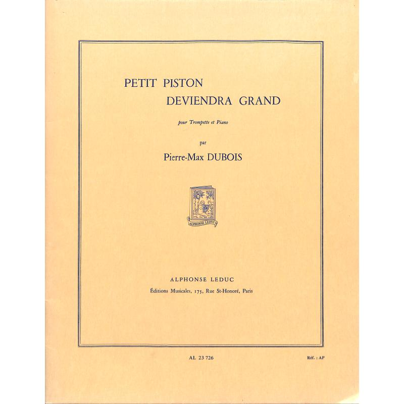 Titelbild für AL 23726 - PETIT PISTON DEVIENDRA GRAND