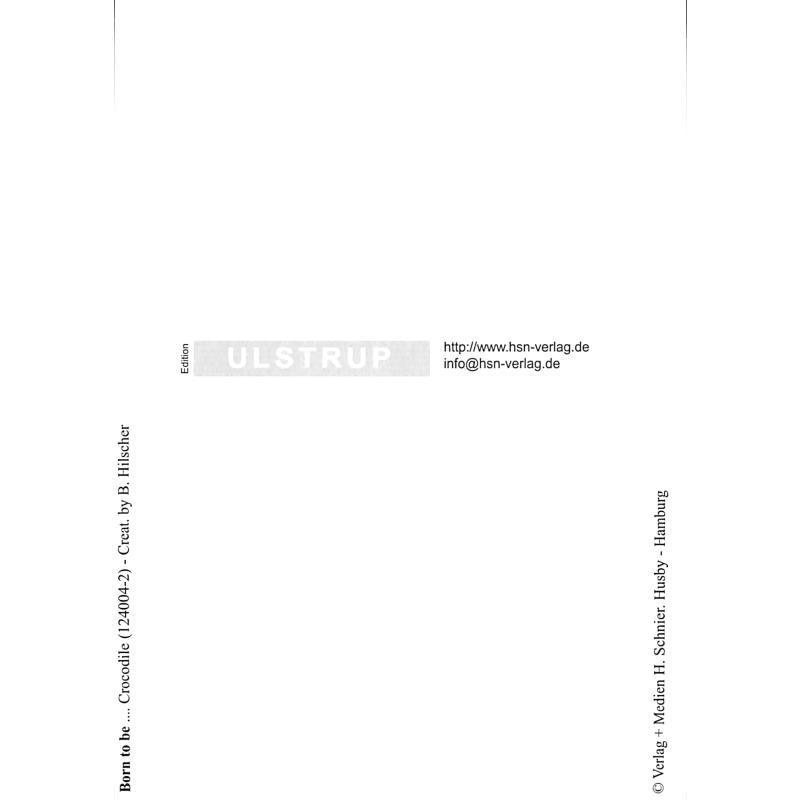 Notenbild für SCHNIER 124004-2 - ZOOLU MUSIC CARD - CROCODILE