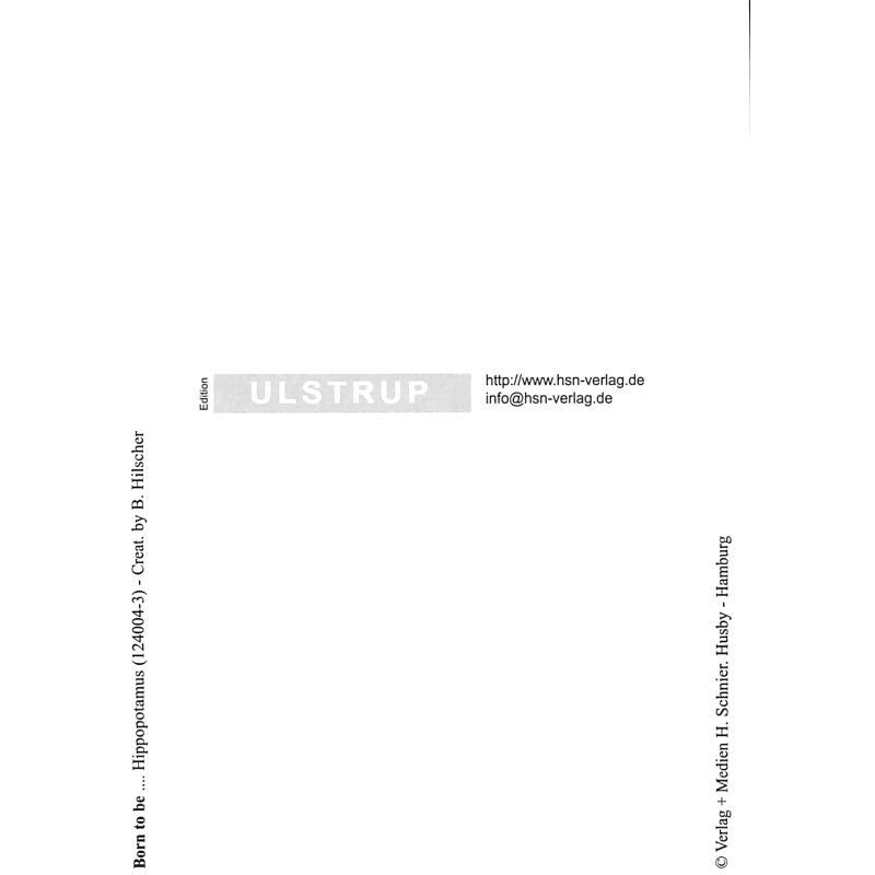Notenbild für SCHNIER 124004-3 - ZOOLU MUSIC CARD - HIPPOPOTAMUS