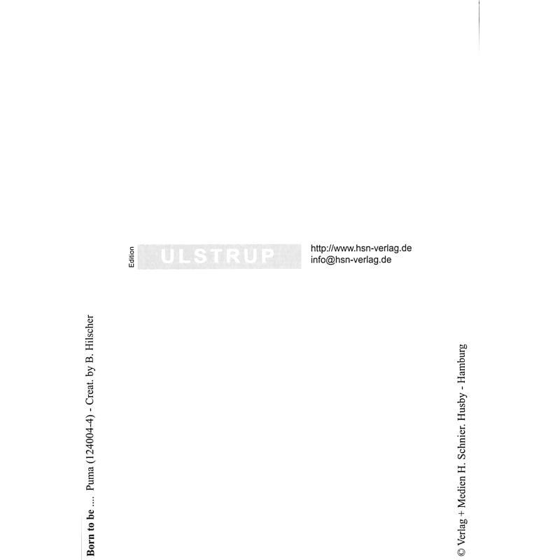 Notenbild für SCHNIER 124004-4 - ZOOLU MUSIC CARD - PUMA