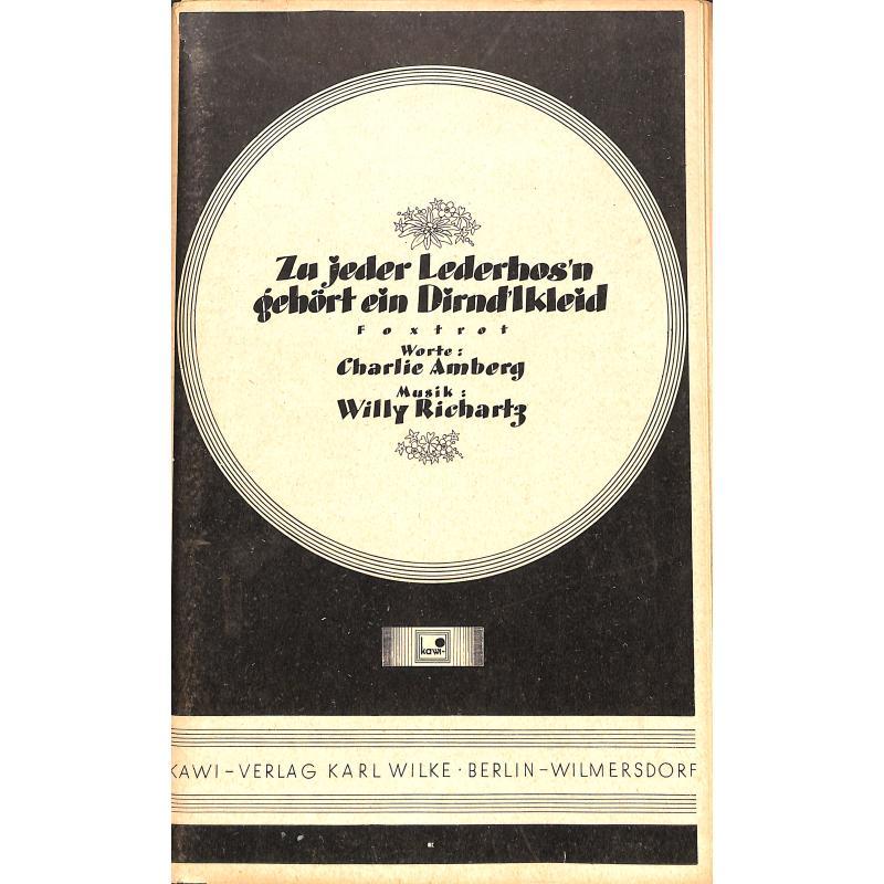 Titelbild für RE 90156 - ZU JEDER LEDERHOSN GEHOERT EIN DIRNDLKLEID