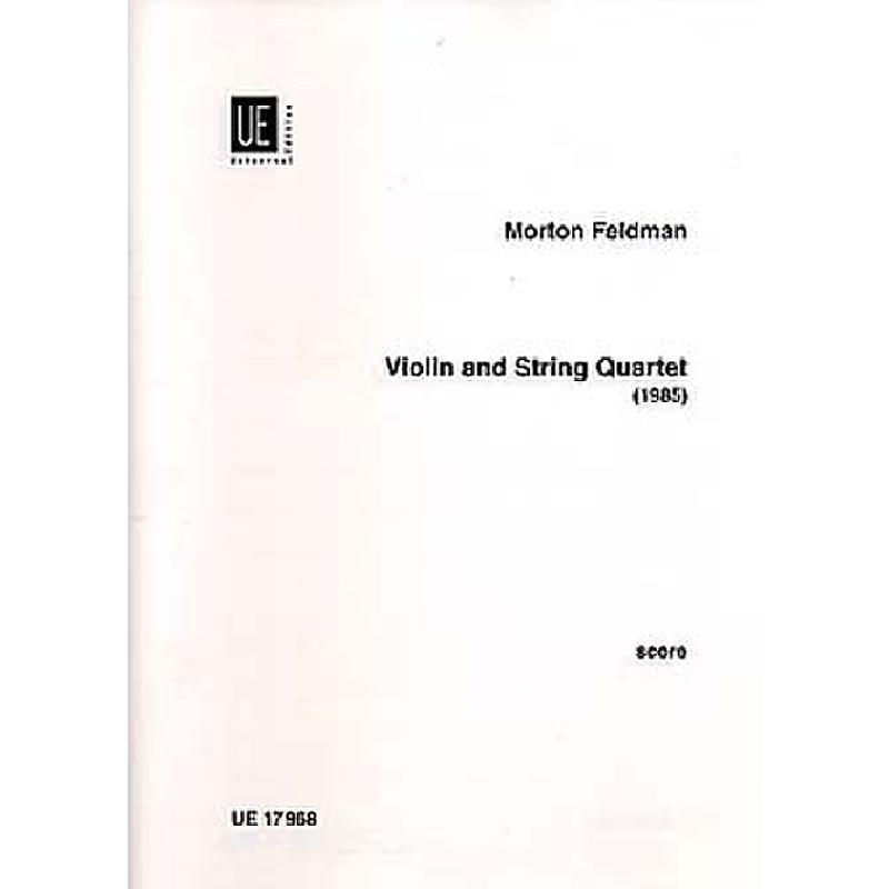 Titelbild für UE 17968 - VIOLIN + STRING QUARTET