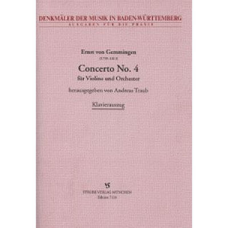 Titelbild für VS 7128 - CONCERTO 4 - VL ORCH