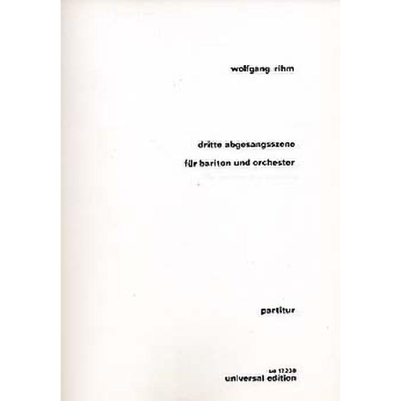 Titelbild für UE 17238 - ABGESANGSSZENE 3