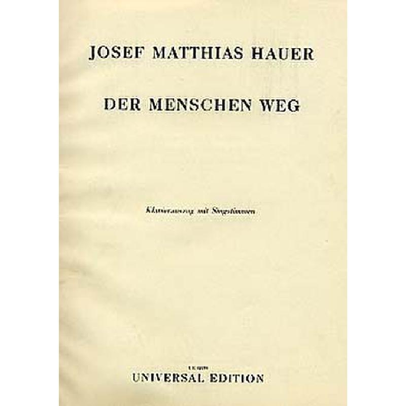 Titelbild für UE 12159 - DER MENSCHEN WEG