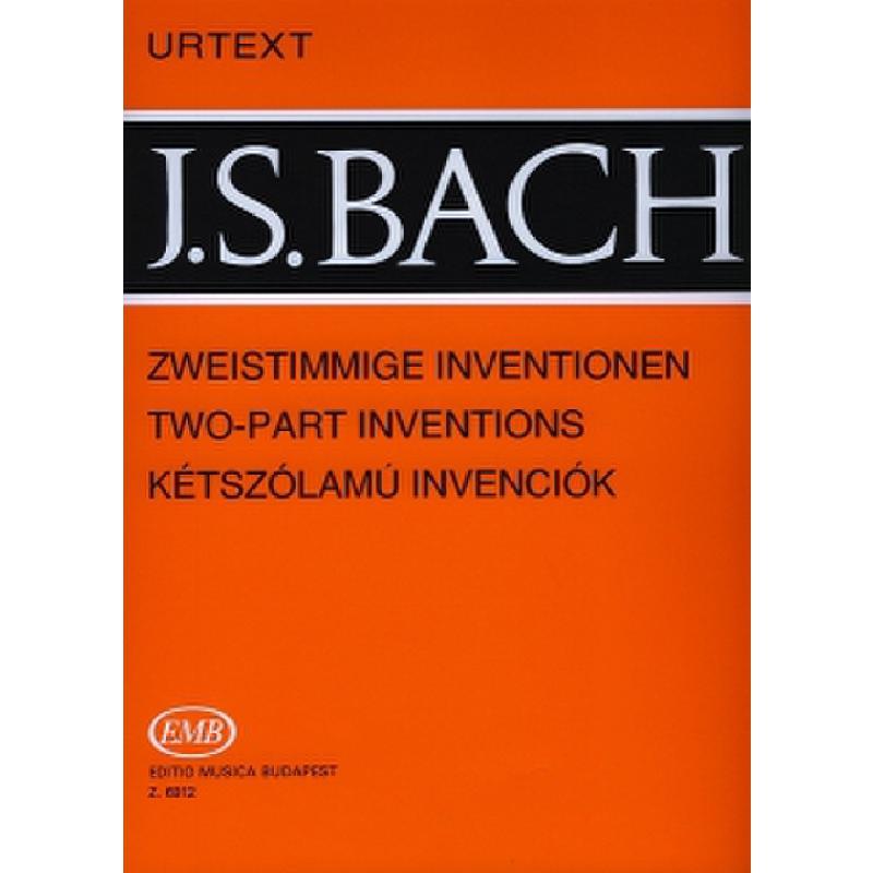 Titelbild für EMB 6912 - ZWEISTIMMIGE INVENTIONEN BWV 772-786