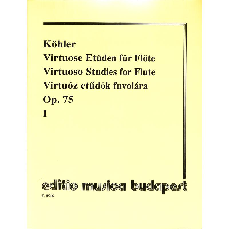Titelbild für EMB 8516 - VIRTUOSE ETUEDEN OP 75/1