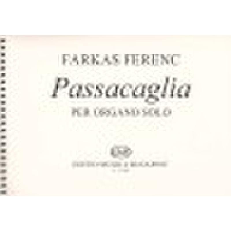 Titelbild für EMB 12488 - PASSACAGLIA