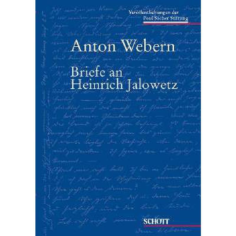 Titelbild für PSB 1007 - BRIEFE AN HEINRICH JALOWETZ