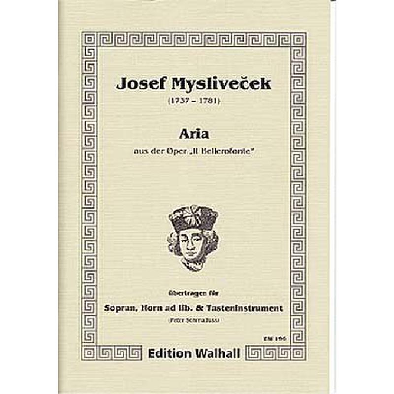 Titelbild für WALHALL 196 - ARIA ES-DUR DER ARGENE AUS OPER IL BELLEROFONTE