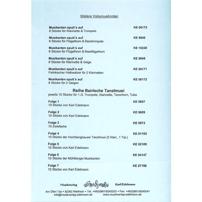 Notenbild für EDELMANN 6173 - MUSIKANTEN SPUIT'S AUF