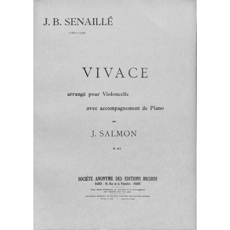 Titelbild für R 413 - VIVACE D-MOLL