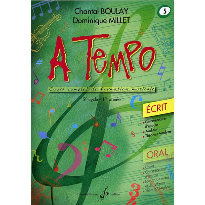 Titelbild für BILL 8365 - A TEMPO 5 - ECRIT