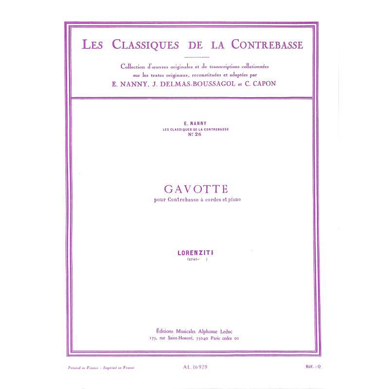 Titelbild für AL 16929 - GAVOTTE