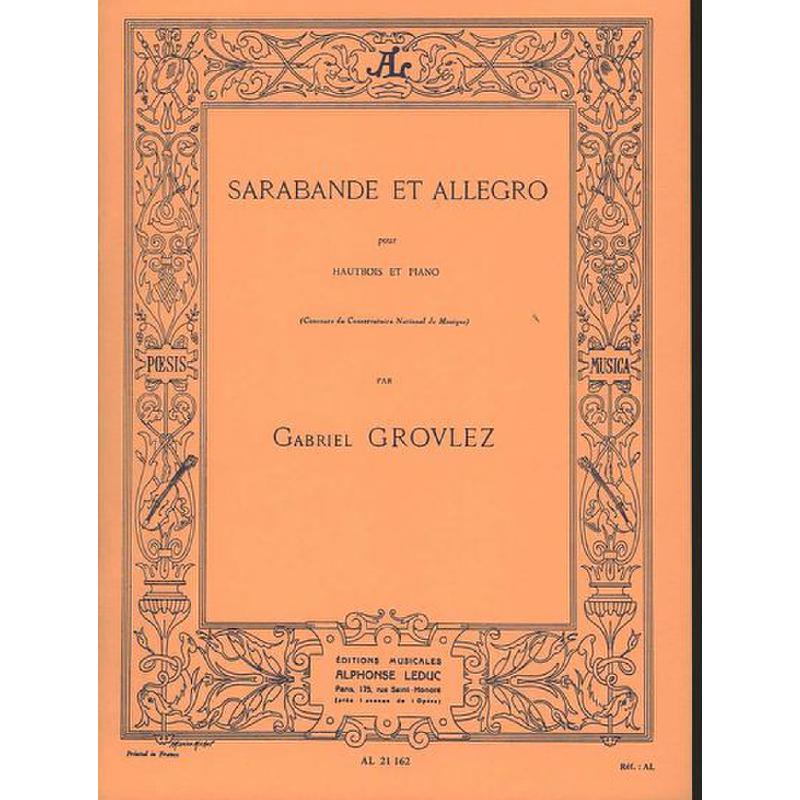 Titelbild für AL 21162 - SARABANDE + ALLEGRO