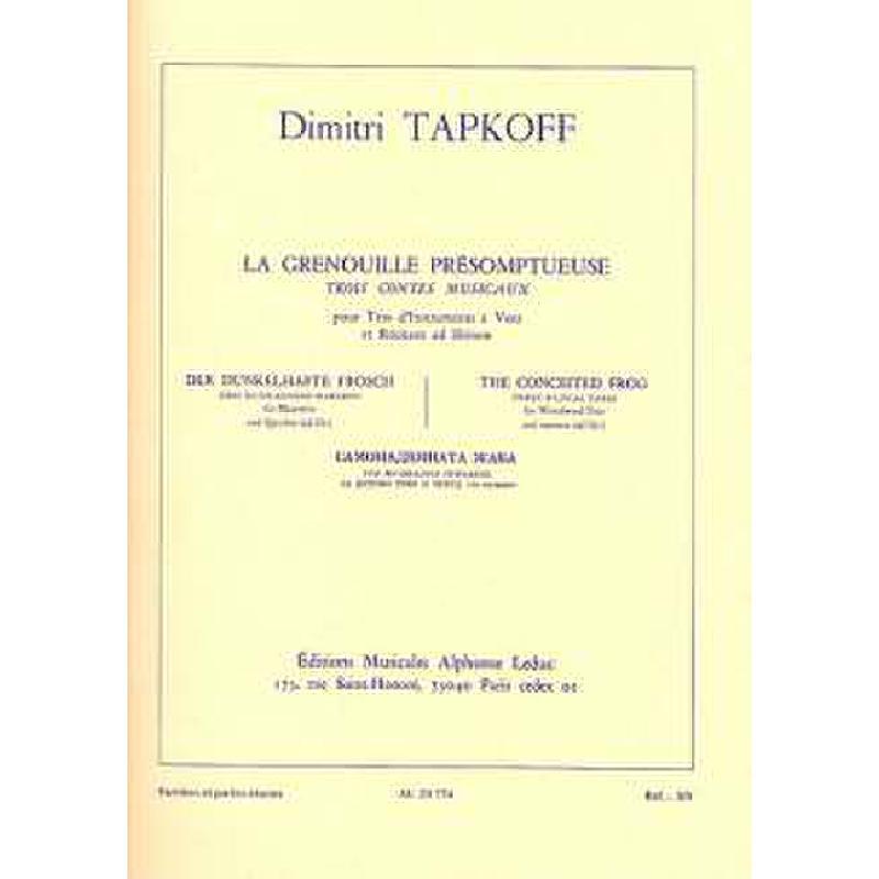Titelbild für AL 23774 - LA GRENOUILLE PRESOMPTUEUSE