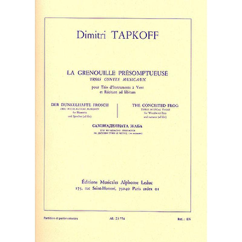 Notenbild für AL 23774 - LA GRENOUILLE PRESOMPTUEUSE