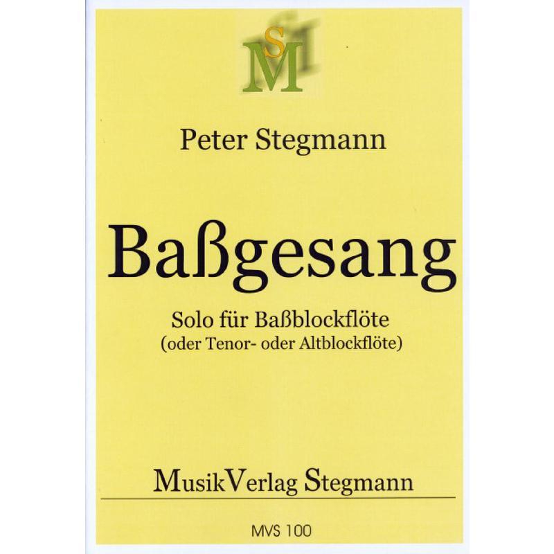 Titelbild für STEGM -MVS100 - BASSGESANG