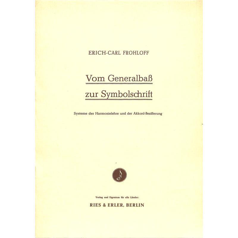 Titelbild für RE 70002 - VOM GENERALBASS ZUR SYMBOLSCHRIFT