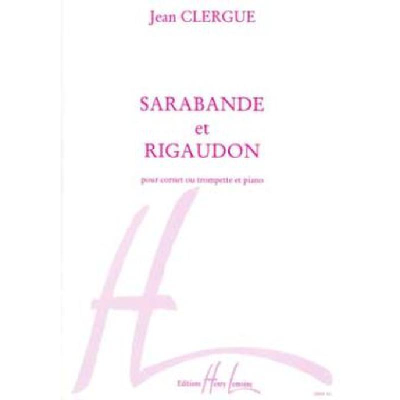 Titelbild für LEMOINE 22858 - SARABANDE ET RIGAUDON