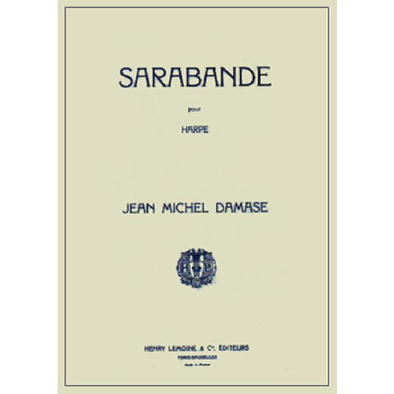 Titelbild für LEMOINE 23523 - SARABANDE