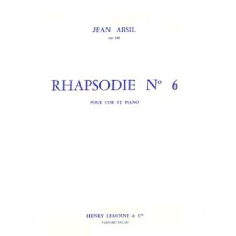 Titelbild für LEMOINE 24111 - RHAPSODIE OP 120/6